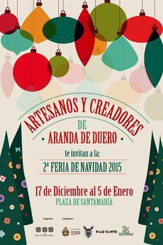 ¡Sorry! Nuestros Posts, ya llegan inundados de la Magia de estas fechas...  Mañana comienza la II Feria de #Navidad en Aranda de Duero, con Artesanos y creadores ¡Ven a vernos!
