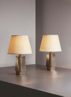 PHILLIPS : UK050109, Jacques Quinet, Fine pair of table lamps #lighting #interiordecoration