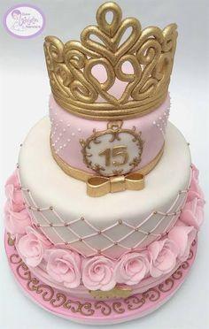 Baby Shower Princess, Princess Birthday, 13th Birthday, Birthday Cake, Cupcakes, Fondant, Rose, Sweet, Desserts