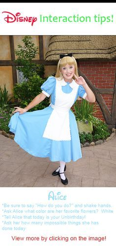 Disney World Character Interaction ideas for Alice in Wonderland and others #Disney #World #character #tips