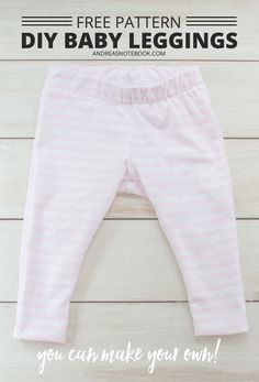 Free Baby Leggings Pattern - Coral + Co.I'm getting my sew on for Christmas, and on the list is super cute DIY Free Baby Leggings Pattern. Seriously, babies are the most adorbs to sew for! Baby Clothes Patterns, Sewing Patterns For Kids, Sewing For Kids, Baby Patterns, Clothing Patterns, Diy For Kids, Sewing Diy, Pattern Sewing, Sewing Tutorials