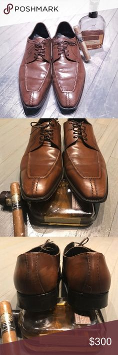 A. Testoni brown leather lace up derby oxfords A. Testoni brown leather lace up derby oxfords. Worn twice a. testoni Shoes Oxfords & Derbys
