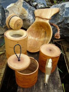 birch bark containers crafts wood smaller viking cup woodworking slice age features projects stitching bone sewing kit lore primitive natural