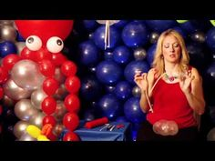 YouTube video - How to make a jellyfish out of balloons.
