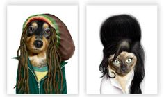 Famous People Pet Portraits - Welcome in Oscar Season With These Hilarious Celebrity Pet Photos (GALLERY)