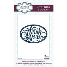 Craft Dies by Sue Wilson - Expressions Collection - Thank You (CED5403)