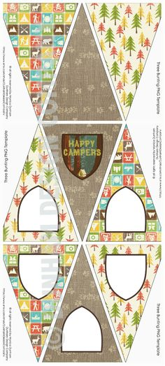 CAMPING Party 3 BLANK Picture Bunting by DunhamDesignCompany