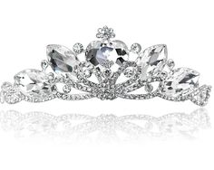 2013 New Rhinestone Crystal Heart Tiara Crown for Bride Quinceanera Crowns Pageant Hair Jewelry Free Shipping WIGO0094-in Hair Jewelry from Jewelry on Aliexpress.com
