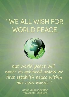 World Peace Quotes Daily Meditation Pray For World Peace  Peace Place Quotes And Amen