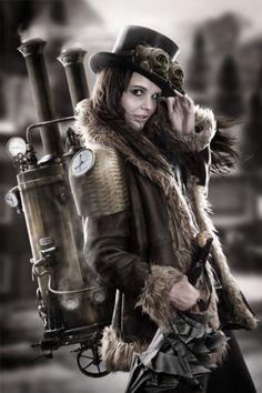 Steampunk lady by Murdock McMackin