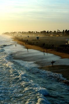 Huntington Beach where my husband learned to surf .... Okay I made him but I told him, we never know if we will ever get this opportunity again! And from a Hawaiian surfer ! He agreed