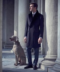 A a gentleman and his dog