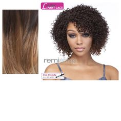 My Own Part Geenah - Color LX3316 - Synthetic (Curling Iron Safe) Invisible L-Part Lace Front Wig - Closed Invisible L-Part
