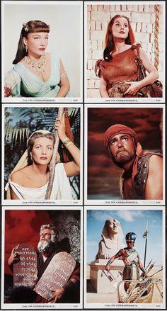 """Cecil B DeMille's """"The Ten Commandments"""" (Paramount, 1956) publicity photos"""