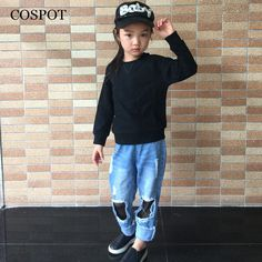 COSPOT Baby Boys Girls Spring Sweatshirt Boy Girl Plain Black Gray Pink T Shirt Kids Fashion Outfits Tops 2017 New Arrival 25C //Price: $19.95 //     #baby
