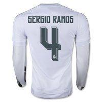 ... Real Madrid C.F 2015-16 Season SERGIO RAMOS 4 LS Home Soccer Jersey ... 966da6756