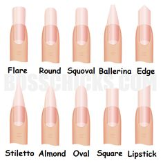nails pinterest | nail shape contribute to the overall nail design just as much as the nail ...