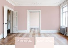 the perfect room. herring bone floors, radiators, crown moulding, all white walls, big windows Interior Paint Colors, Interior Design, Pink Walls, White Walls, Modern Kitchen Design, Living Room Inspiration, My Dream Home, Room Decor, Hunting Cabin
