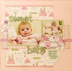 #papercraft #scrapbook #layout. Sweet Baby