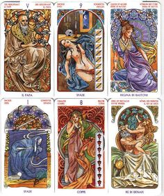 Tarot #27: Tarot Art Nouveau by Antonella Castelli. How gorgeous are they? VERY.