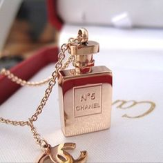 Gold Chanel No 5 bling
