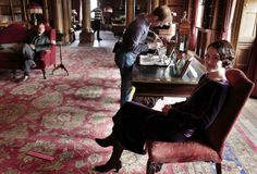 Downton Abbey #interiors, hmmm? Different rug?