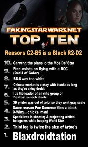 Top 10 Reasons C2-B5 is a Black R2-D2 - Faking Star Wars: Fake News for Real Fans