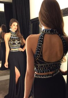 black prom dresses, open back evening dresses, split prom dresses Split Prom Dresses, Open Back Prom Dresses, Prom Dresses 2016, Black Prom Dresses, Dresses For Teens, Sexy Dresses, Pretty Dresses, Short Dresses, Prom Gowns