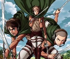 Jean, Eren, and Connie