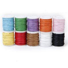 10 Rollos Hilo De Algodón Cuerda Encerado De Mezclamiento Del Color Para Cadena De Cuentas 1mm: Amazon.es: Juguetes y juegos