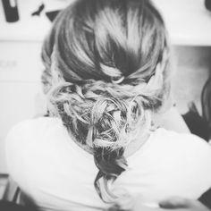 When my braided hair model was preparing #wed #bride #hair #braided #updo #braid #hairstyle #düğün #saç #model #camp #camping #turkey #seaside #beach #sahil #wedding #love #summer #boho #romance #dress #photography #style #rustic