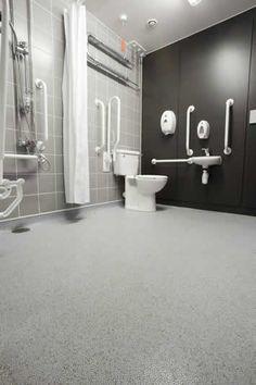 How to turn ordinary bathrooms into handicap showers - Non slip bathroom flooring elderly ...