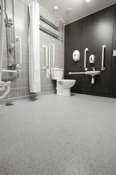 Altro Marine Flooring - great non slip flooring for the entire bathroom including the barrior free shower.
