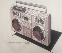 Richard Culbertson's #12 version of TC-83-TS12 Concept boombox from 1981.