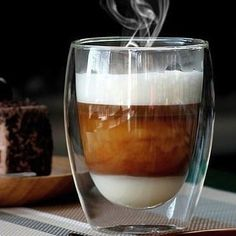 The Thermo Glass collection by WILMAX is perfect for holding hot or cold beverages , and even miniature dishes such as desserts. Made from a high-temperature, shock resistant, Borosilicate glass, the Thermo Glass collection has excellent quality,which ensuregreat usability. #ThermoGlass #tableware #porcelain #crystalline #glass #tabletop #tabletopmatters #foodpresentation #restaurantdesignteatime #coffeeware #elegant #tablesetting #china #glassware #glasses #recipe #plate #wilmax_usa… Coffee Heart, Coffee Is Life, Glass Coffee Cups, Tea Cups, Coffee Latte, Coffee Shop, Coffee Break, Coffee Time, Desserts In A Glass