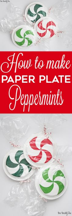 How to make paper plate peppermints! Great tutorial!
