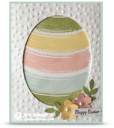 VIDEO: How to make a Work of Art Easter Egg Card | Stampin Up Demonstrator - Tami WhiteInspired by Jennifer Downey. ——— Stampin Up Supplies: • Work Of Art Clear-Mount Stamp Set #134114 • Teeny Tiny Wishes Clear-Mount Stamp Set #127802 • Basic Black Archival Stampin Pad #140931 • Wisteria Wonder Classic Stampin' Pad #126985 • Pear Pizzazz Classic Stampin' Pad #131180 • Soft Sky Classic Stampin' Pad #131181 • Blushing Bride Classic Stampin' Pad #131172 • So Saffron Classic Stampin' Pad #12695....