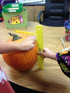 Mrs. Terhune's First Grade Site!: Pumpkin Centers and Activities!