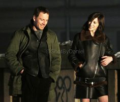 March 19: @ shotbydaniel Michael Fassbender and Charlotte Gainsbourg filming #TheSnowman in Oslo today!  #Snømannen