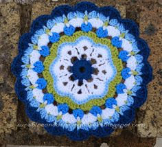 First Ta-dah moment : Maybelle Flower Mandala Pattern        I am beyond excited ..... I am posting a pattern of my own creation! What a f...