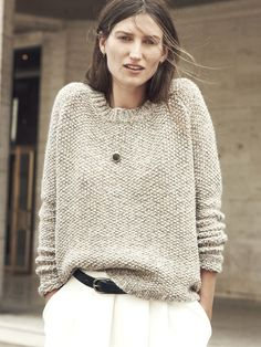This chunky knit is a fall must have. // Madewell et Sézane Haspen Sweater