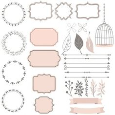 Cute collection of decoration elements Free Vector Printable Planner Stickers, Printable Labels, Printables, 2017 Planner, Happy Planner, Foto Banner, Kalender Design, Diy Décoration, All Paper