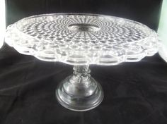 Antique Glassware: 1000 Eye Cake Stand by Adams Glass Co.. Victorian Cake Plate Dessert Wedding Cake Birthday Cake Bakery EAPG Pressed Glass by Buckeye Antiques on Gourmly