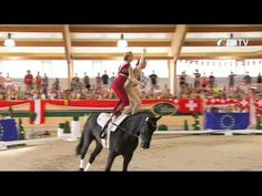 FEI European Vaulting Championships 2013 - Senior Pas de Deux -  Top 3 -- incredible strength and stability.