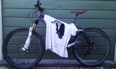 Sheep The Afan Alien sheep shirt on my bike post ride. http://www.landofmudandglory.co.uk/collections/frontpage/products/sheep
