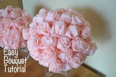 Girls Party Centerpiece Ideas | found this idea on pinterest and tweaked it to make it into bouquets ...