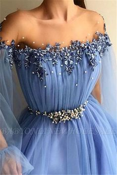 Glamorous Jewel Appliques Mesh Tulle Prom Dress with Long Sleeves Glamorous Jewel Appliques Mesh Tulle Prom Dress with Long Sleeves SEE DETAILS Baby Blue Prom Dresses, Prom Dresses With Sleeves, A Line Prom Dresses, Evening Dresses, Bridesmaid Dresses, Stunning Prom Dresses, Pretty Dresses, Beautiful Dresses, Unique Prom Dresses