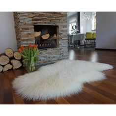 Giant Sheepskin White British Leicester Sheepskin Rug Curly Wool Fur... ($83) ❤ liked on Polyvore featuring home, rugs, dark olive, floor & rugs, home & living, sheep-skin rug, leather rugs, wool area rugs, fur area rug and sheepskin rug