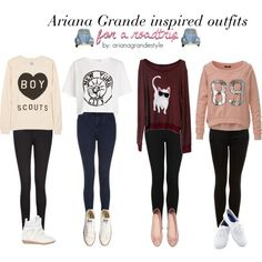 Ariana Grande Inspired Outfits by arianagrandestyle (dresslikearianaa on… Teen Fashion Outfits, Fall Outfits, Cute Outfits, Womens Fashion, Fashionable Outfits, Fashion 2018, First Day Of School Outfit, School Outfits, Sleepover Outfit