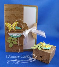 Scalloped Tag Topper Punch Card and Mini Box